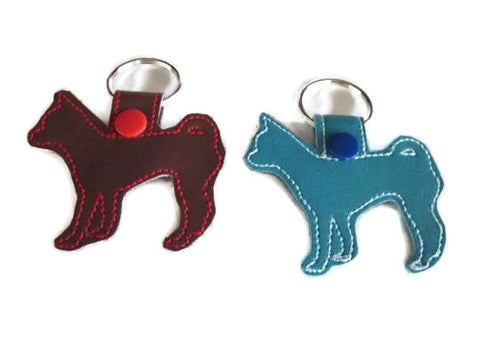 Chihuahua Outline Key Fob