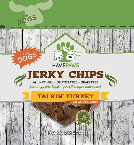 Have Paws Talking Turkey Jerky Chips- for dogs