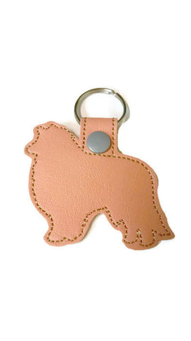Collie/ Sheltie Outline Key Fob