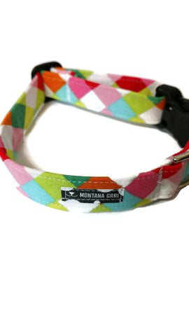 Colorful Checkers Pet Collar