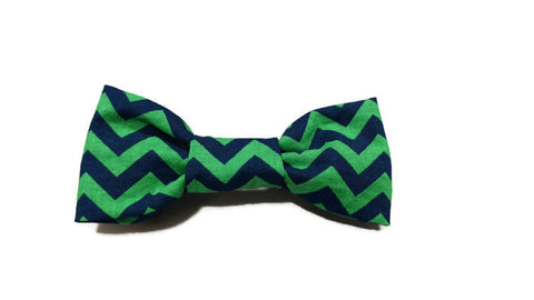 Green Blue Chevron Bowtie
