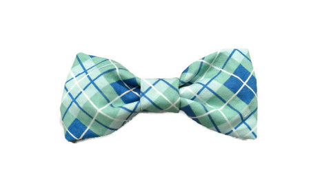 Blue Hue Plaid Bowtie