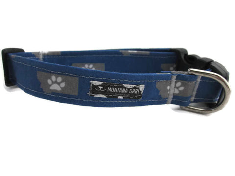Paws prints on Montana pet collar