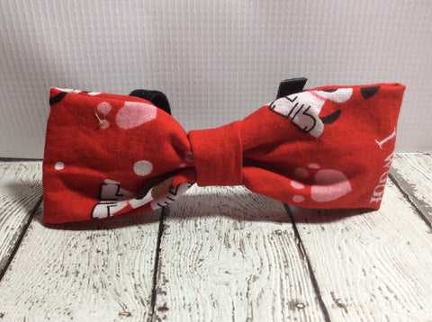 I Woof You Valentine's Day Dog Bow tie