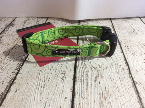 Green Swirls Pet Collar