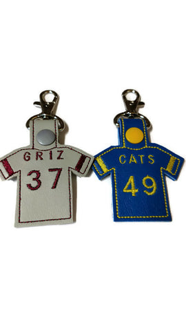 Custom Jersey Key Chain