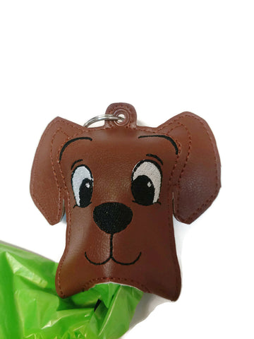 Cute dog poop bag holder