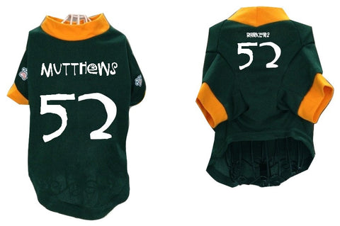 Barkers aka Packers Pet Jersey - #52