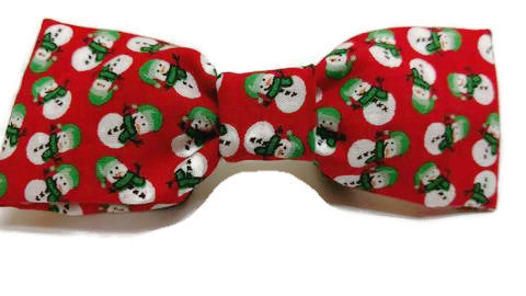 Red Snowman Holiday Bow tie