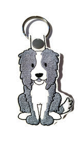 Border Collie Key Fob