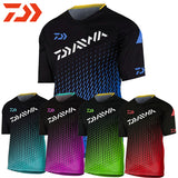 2019 New Summer Daiwa Fishing Jersey Shirt Men Outdoor Sports Breathable Fishing Shirt Hiking Camping Quick Dry Fishing Clothing