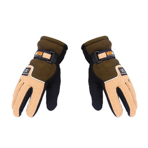 Adjustable Fishing Gloves Windproof Full Finger Anti-Slip Winter Warm Gloves Outdoor Cycling Sports Gloves Ice Fishing Equipment