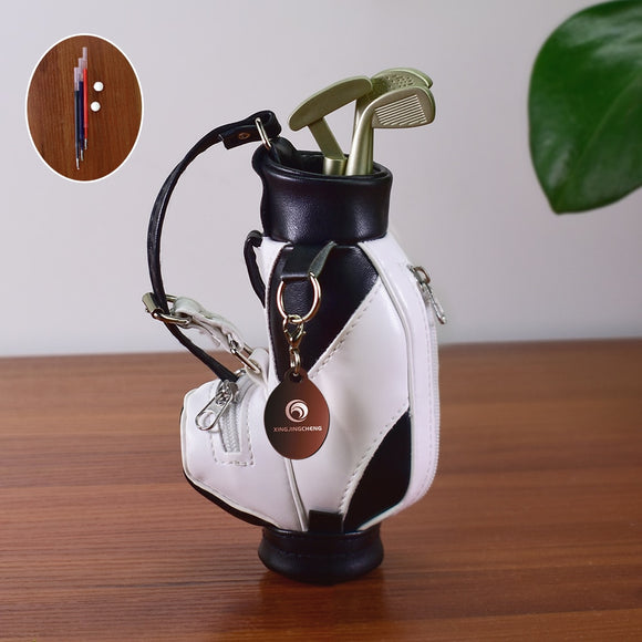 Mini Golf Pens Holder with Pen for Desk Decoration Bag Golf Gift for Golfer Coworker Fanatic Fans