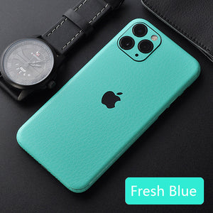 Leather Skin Sticker For iPhone