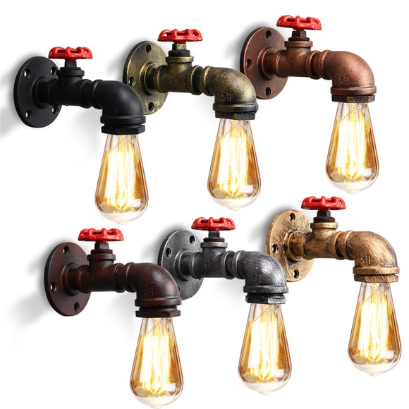 Industrial Water Pipes Wall Light