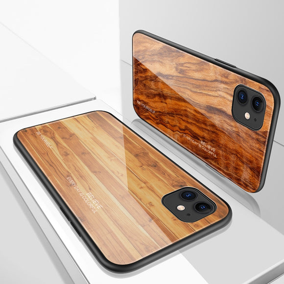 Luxury Wood Grain Phone Case For iPhone