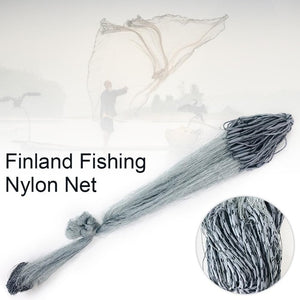 Finefish 3 Layers Finland Gillnet 1.8 Meters/70.87in Outdoor Sports Fishing Net Multifilament Nylon Line Catch Fishing Network
