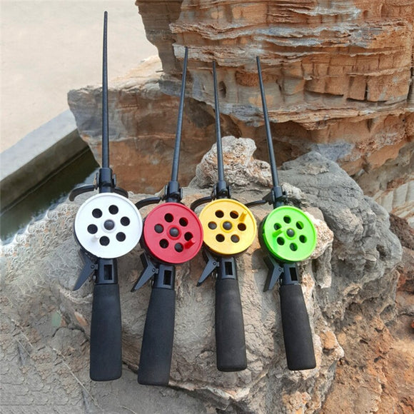 New Portable Ice Winter Fishing Rod With Reel Practical Travel Entertainment Sports Winter Ice Fishing Rod Fishing Tackle