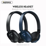 REMAX Wireless Headset Bluetooth 5.0 Headphones With Mic Microphone Noice Cancelling Earphones