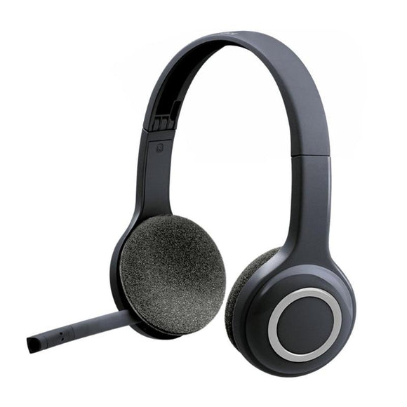 Logitech H600 2.4GHz Wireless Fordable Gaming Headset Headphones with Noice Canceling Mic Connect with PC by nano-receiver