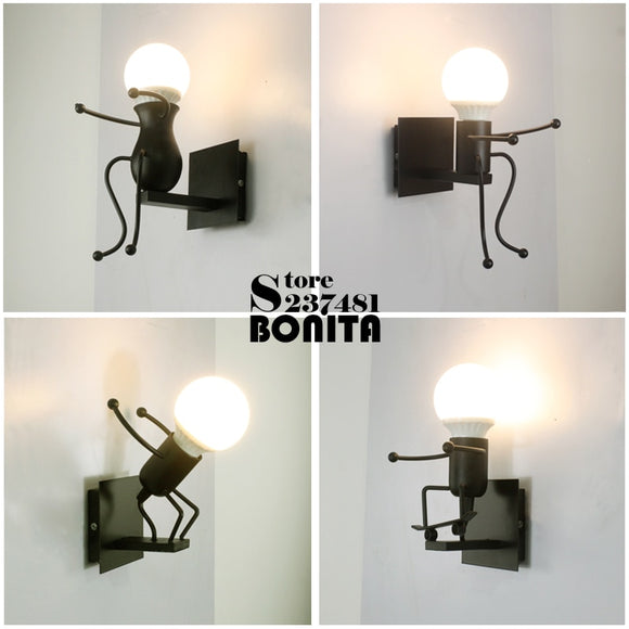 Matchstick Men Wall Lights