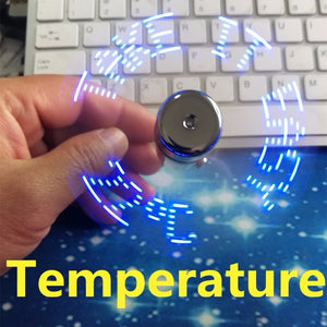 USB fan and temperature display