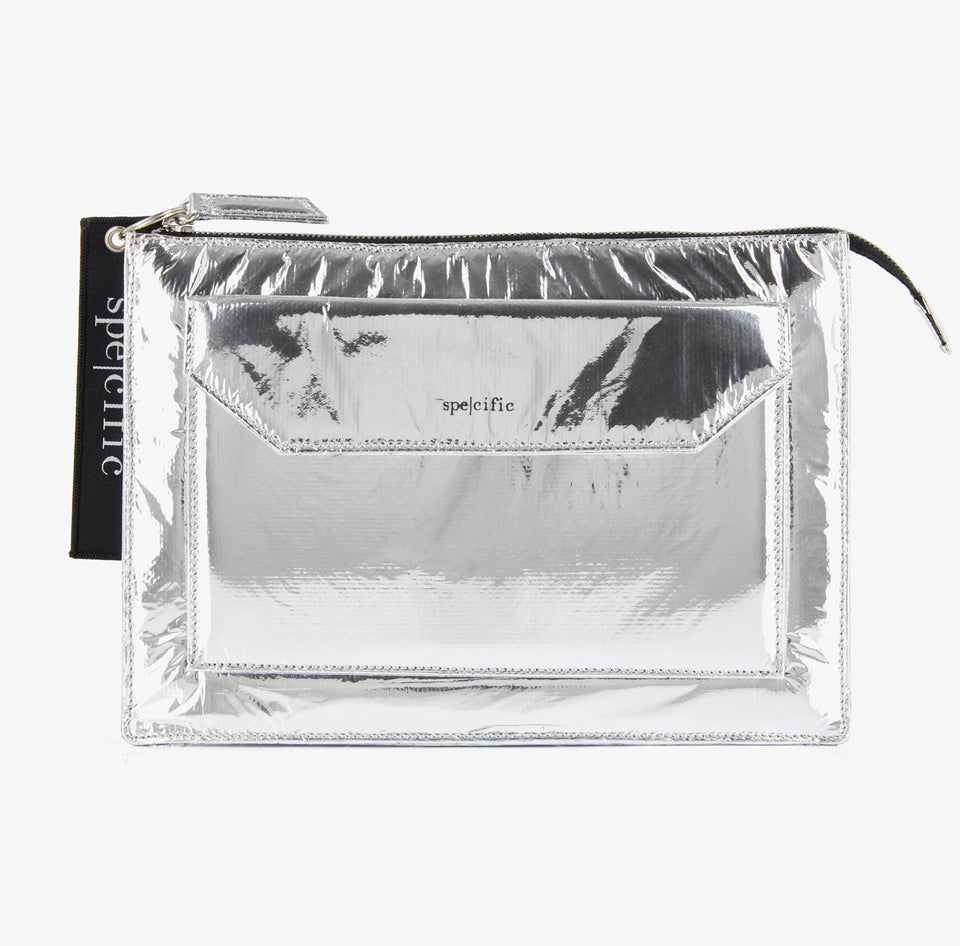 SPE004 | Small Tech Pouch| Silver