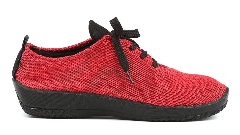 LS Lace up- Red