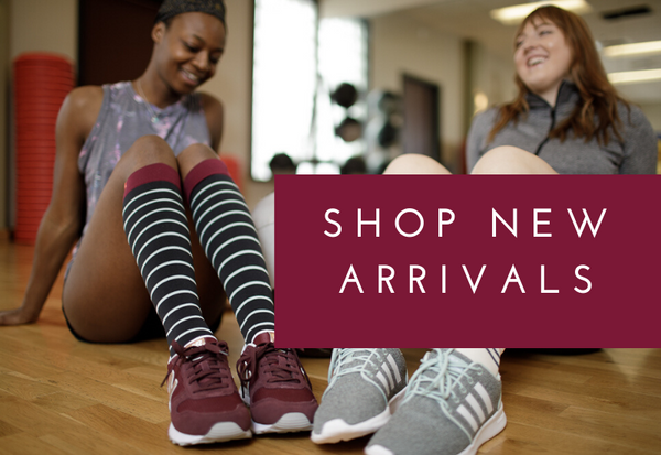 Women wearing compression socks at the gym. Shop now.