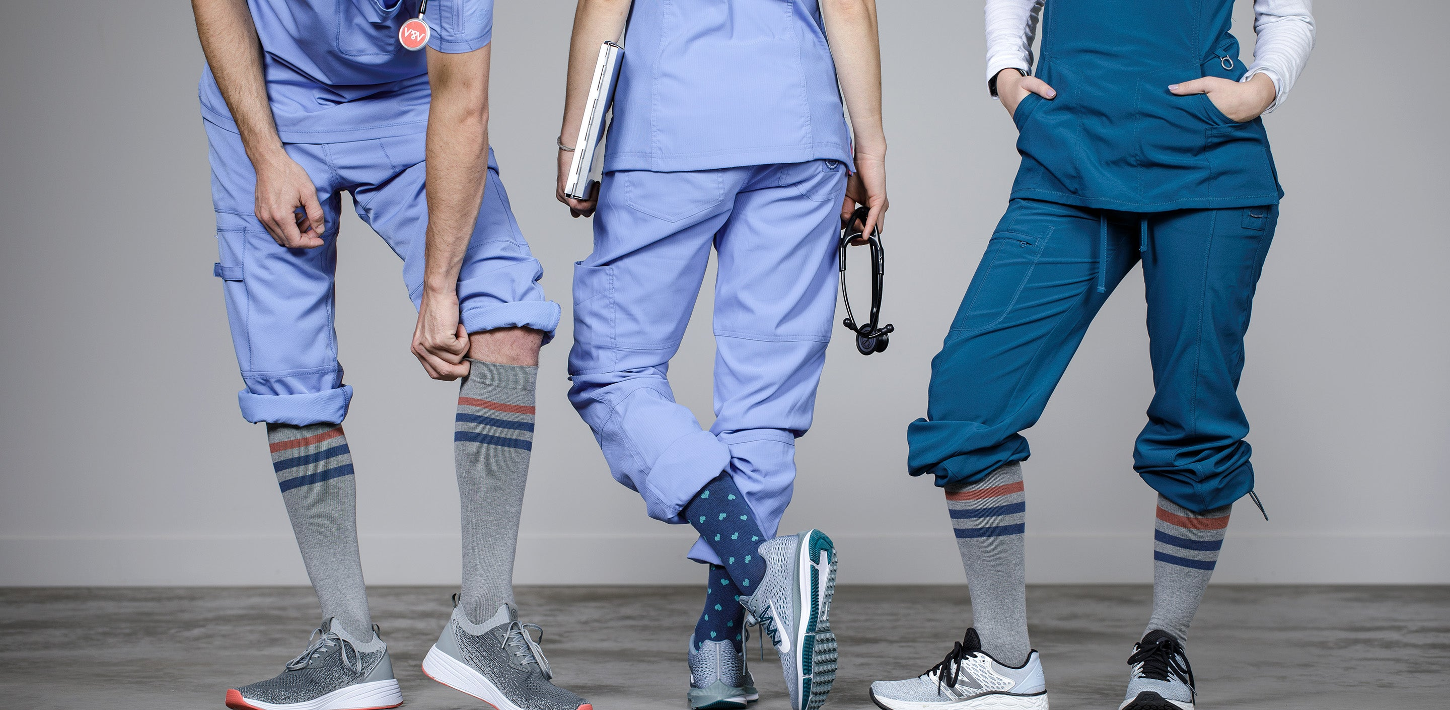 Nurses Wearing Compression Socks