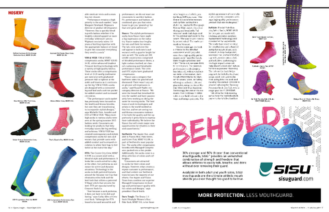 The article of Sports Insight Magazine's March/April issue included VIM & VIGR in a piece dedicated to compression socks.