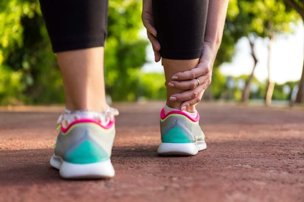 Edema in ankles and legs