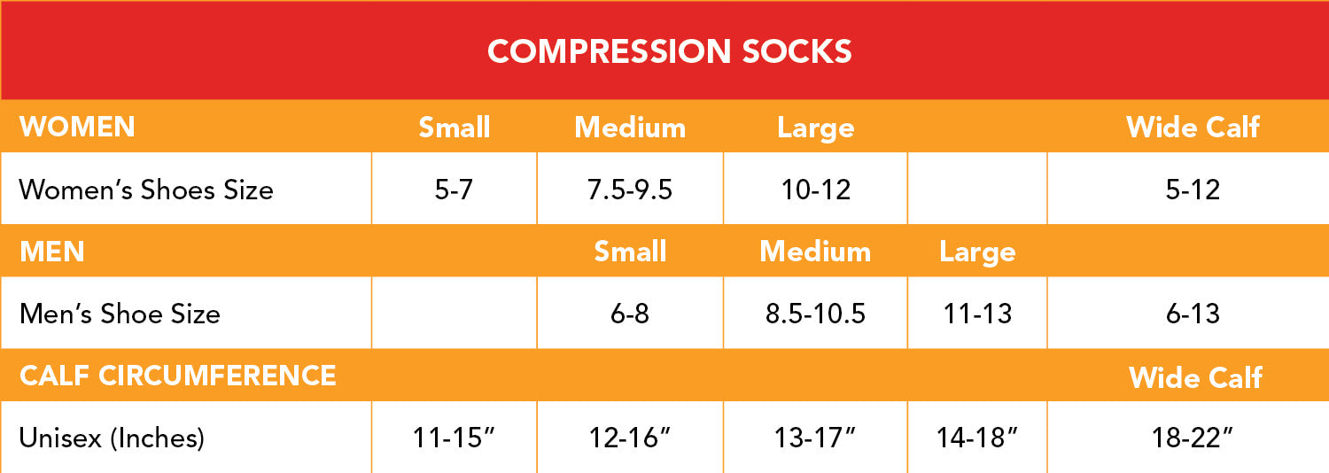 Size Chart - VIM & VIGR Fashionable Compression Legwear