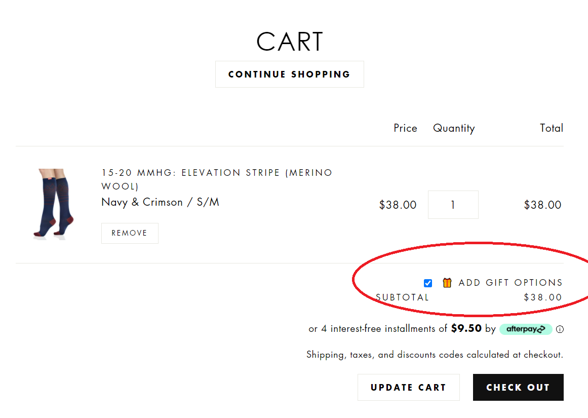 How to add gift options to your cart
