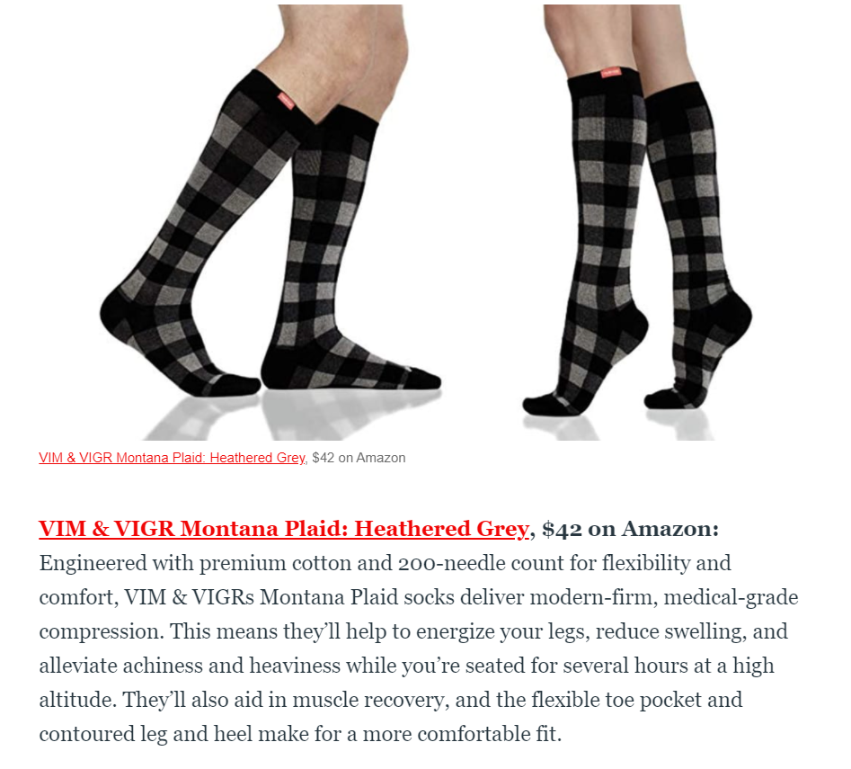 Daily Best article on compression socks
