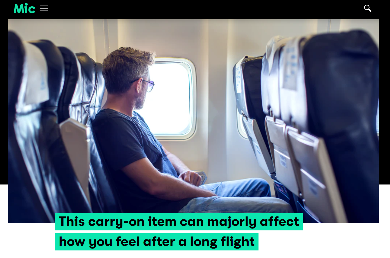 Mic article on compression socks for travel