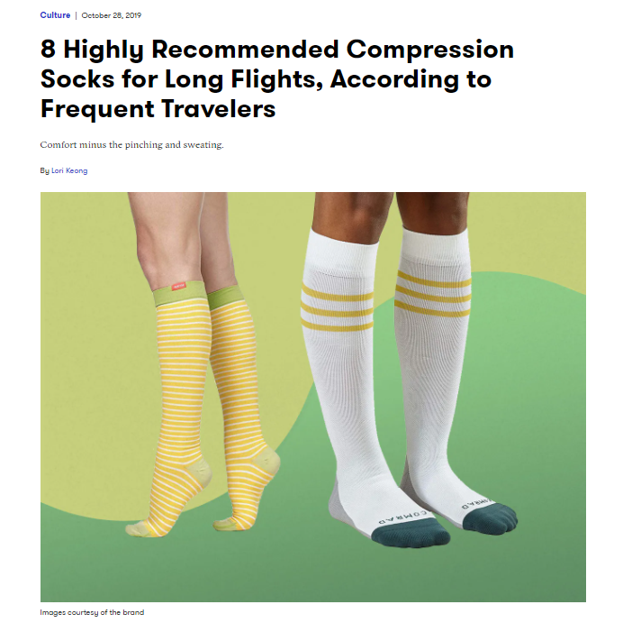 Self article about compression socks for travel
