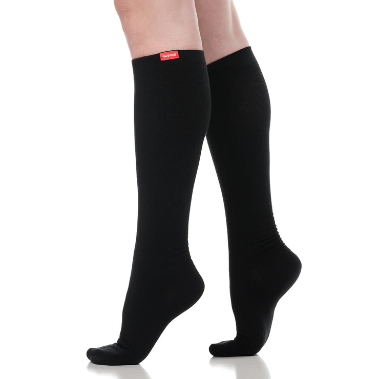 Moisture-wick nylon compression socks for men & women