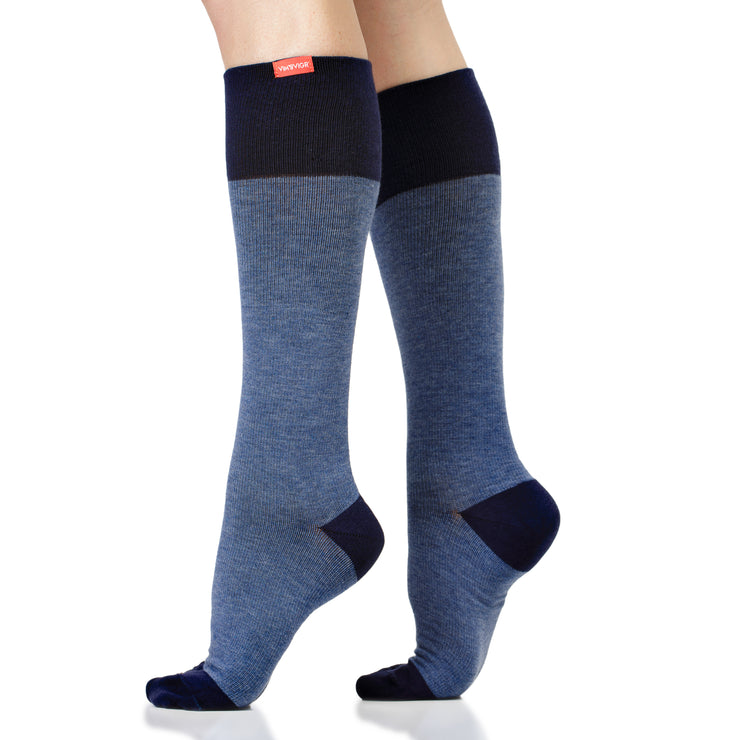 Cotton medical-grade compression socks for men & women