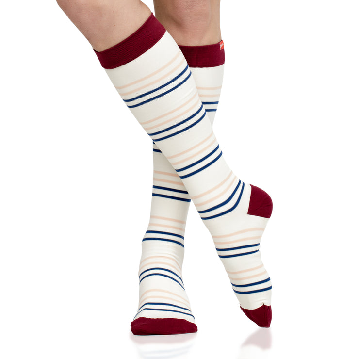 Nylon compression socks for women