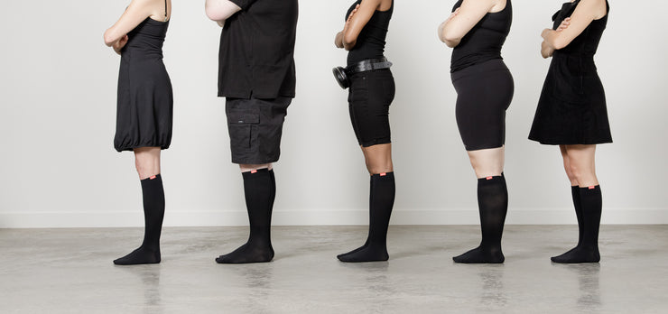 Compression socks for many body types