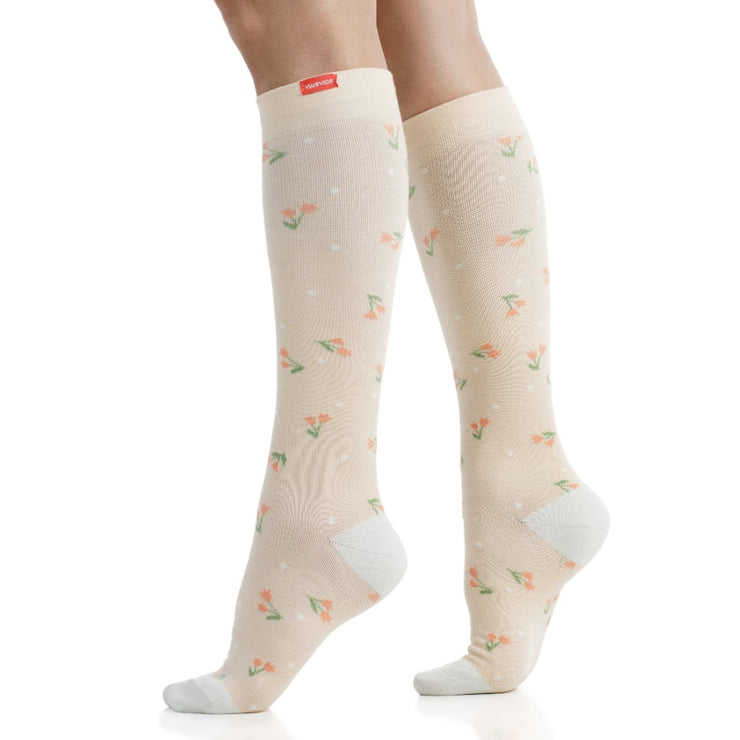 Stylish medical-grade compression socks