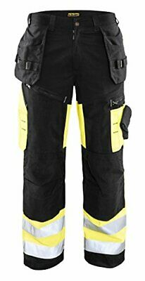 Blaklader Black/Yellow Twill Hi-Vis X1600 Pants