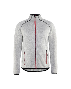 Blaklader Grey Melange/Red Wind/Water/Cold Oneside Brushed Knitted Jacket
