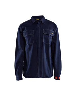 Blaklader Navy Blue Flame Resistant Twill Fire Resistant Shirt