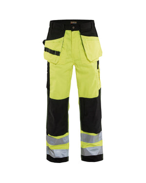 Blaklader Yellow/Black Twill Hi-Vis Pants