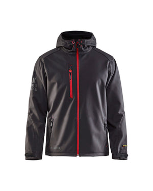 Blaklader Dark Grey/Red Wind/Water/Cold 3-Layer Softshell Jacket