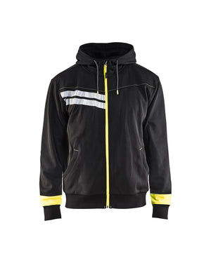 Blaklader Black/Yellow Oneside Brushed Hoodie Sweater