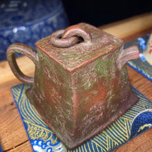 Load image into Gallery viewer, Yixing Bronze Weight Style Zini/ Lvni 85ml Teapot - Wuji Tea Company