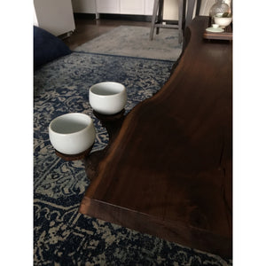 Heart Knot- Custom Colorado Black Walnut Live Edge Tea Table